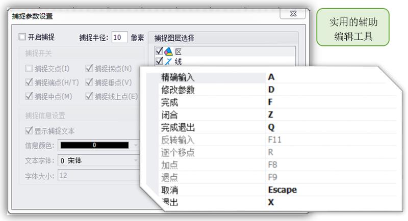 使用的编辑辅助工具